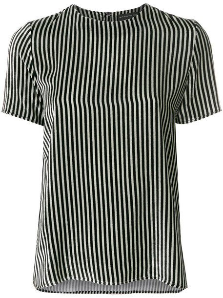 Etro - striped T-shirt - women - Silk/viscose - 40, Black, Silk/viscose