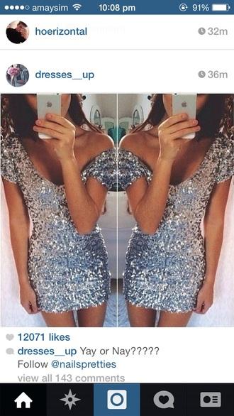shiny sparkles sparkly tight short short-sleeved