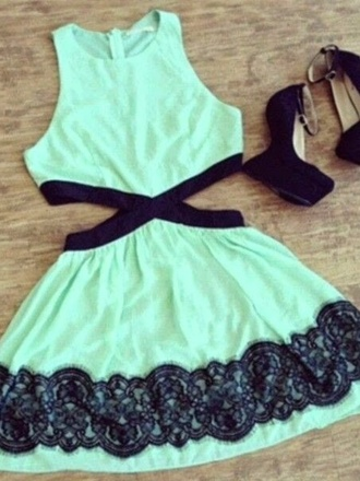 mint turquoise cut-out summery