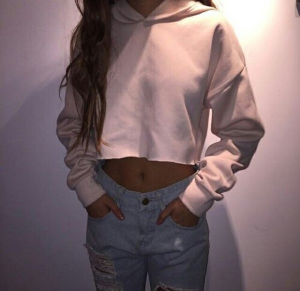 Shirt Pink Baddies Crop Crop Tops Jeans Tumblr