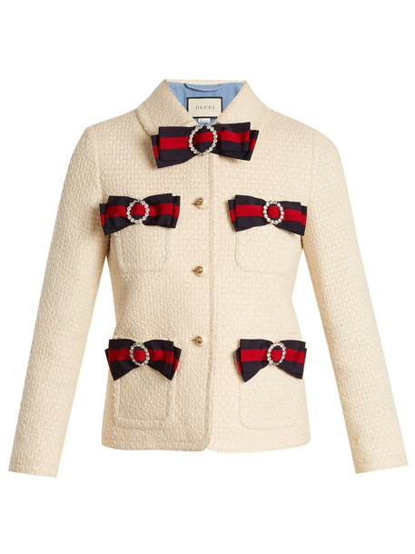 gucci jacket bow