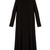 High-neck pleated double silk-georgette dress