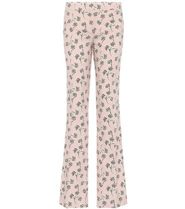Prada Printed crêpe trousers