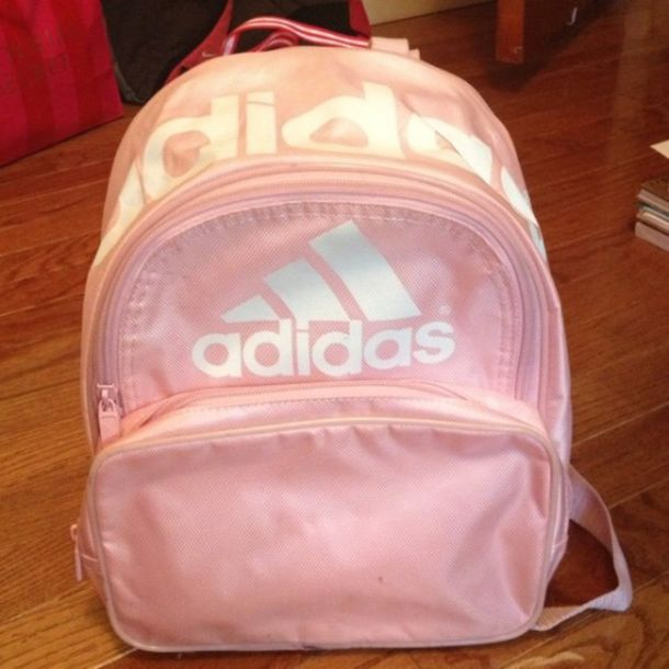 Bag: pastel, girl, boy, adidas, pink, backpack, light pink ...