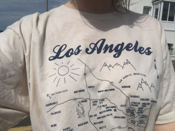 d354bc26c shirt cute tumblr losangeles los angeles long sleeves white map sun vintage  love la black pretty