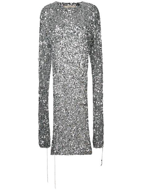 PORTS sweater poncho sweater oversized women grey metallic
