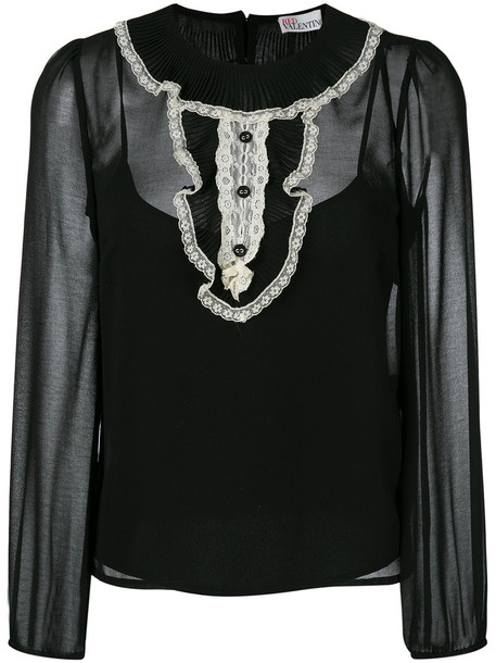 RED VALENTINO top women lace black