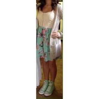 dress zipper floral dress short sleeve