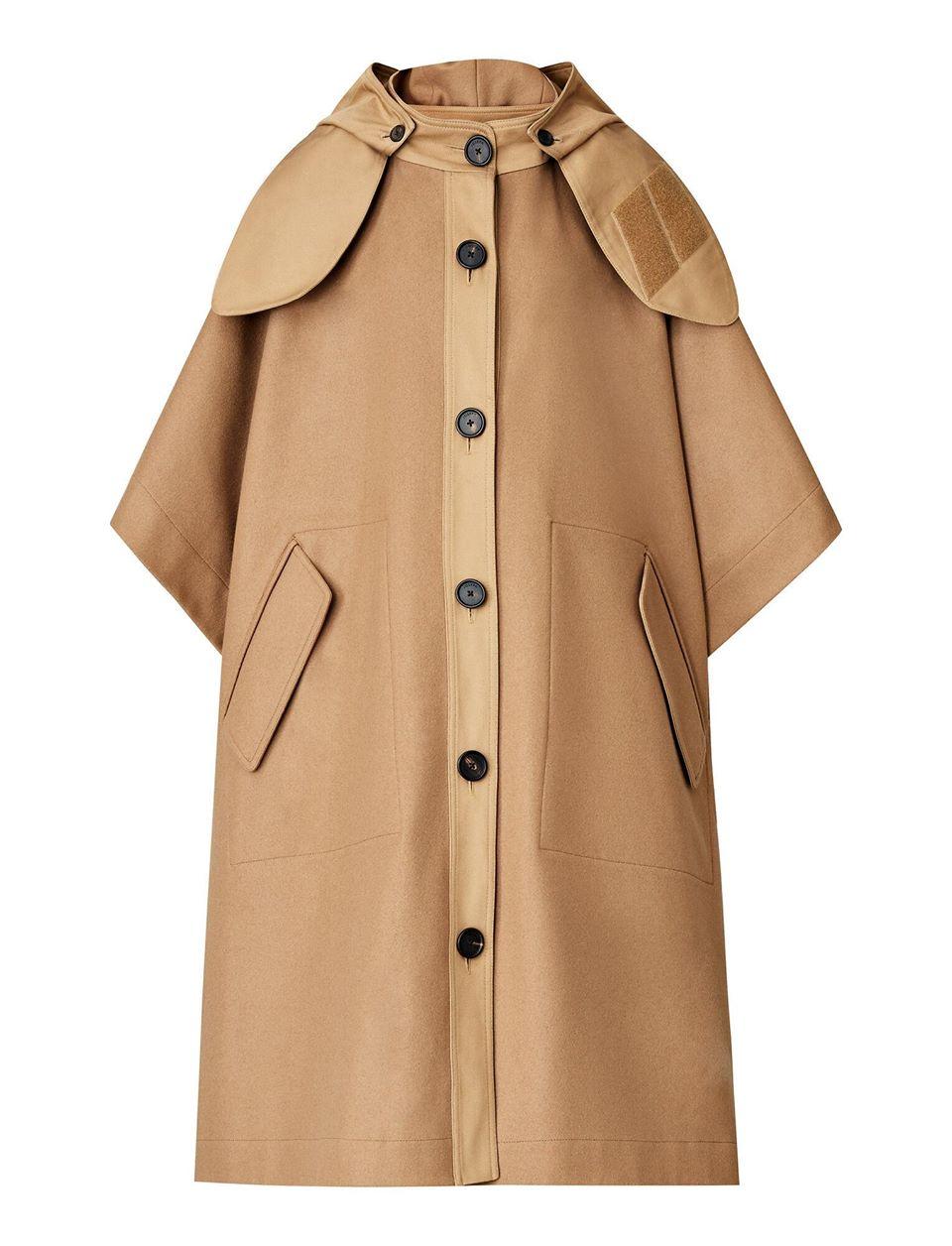 Cape Compact Felt Coat