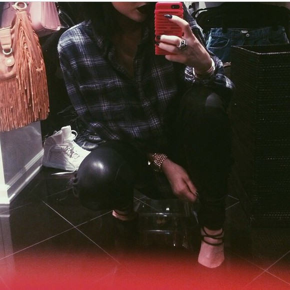 flannel shirt kylie jenner