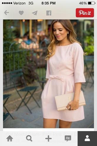 light pink classy dress