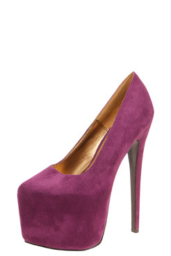 Foxy Suedette Super High Heels at boohoo.com