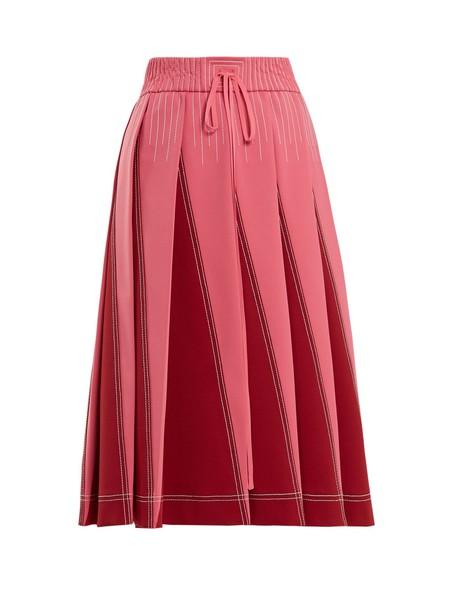 Valentino skirt pleated pink