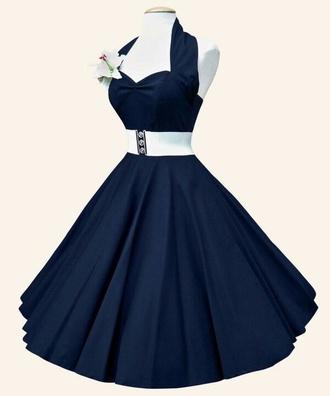 dress 50s fashion flower dress white blue sweetheart neckline blue dress royal blue dress dress #royal blue sweetheart dresses