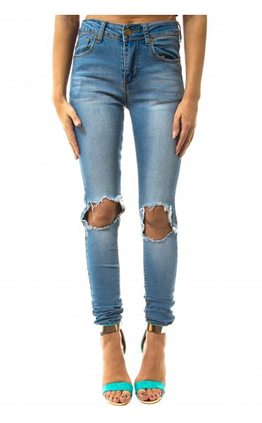 Annice ripped knee skinny fit jeans