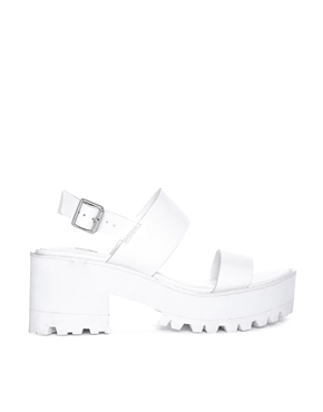 Sandals Asos IslandWhite Low Fare Heeled River At Chunky nwy8OvmN0
