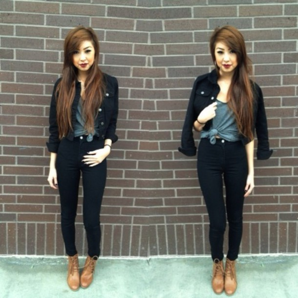 jeans high waisted jeans black 90s style shoes