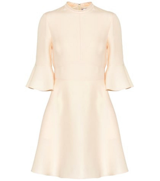 Valentino Wool and silk dress in white