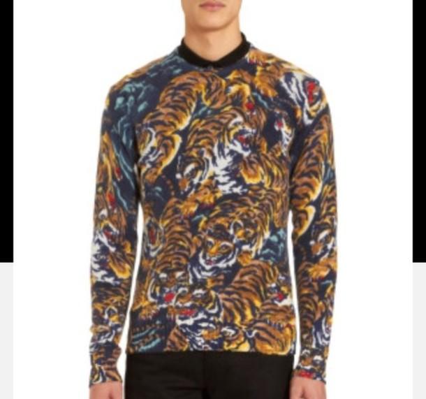 sweater tiger print