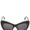 Chained cat eye acetate sunglasses
