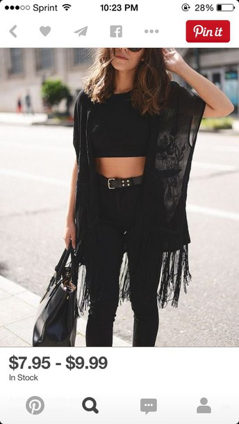 cardigan black top