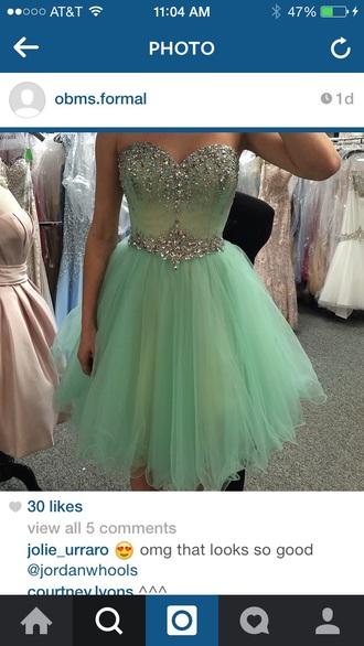 dress short dress short prom dress mint dress mint