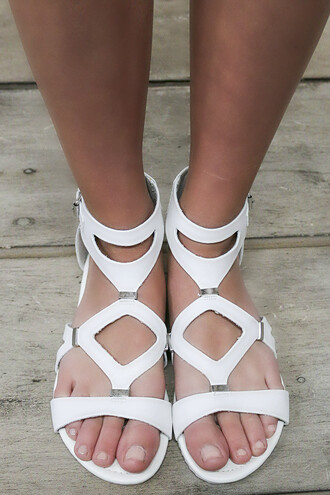 shoes white leather amazinglace amazinglace.com sandals flats summer