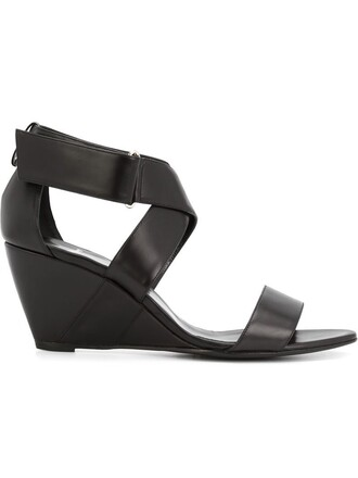 cross criss cross sandals black shoes