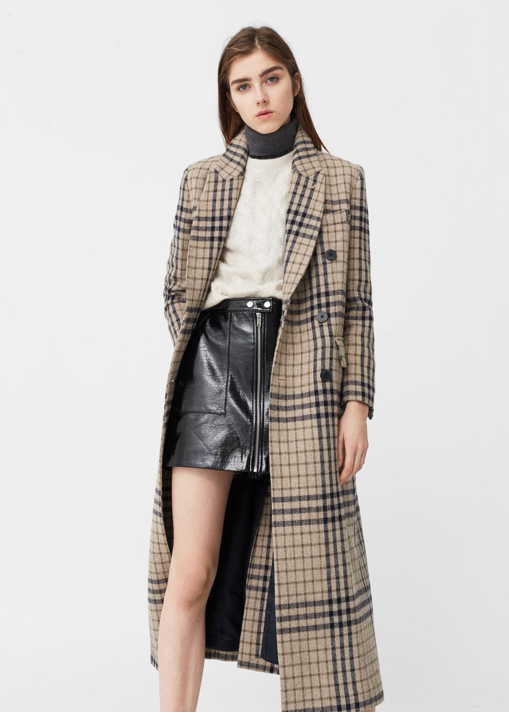 Mantel aus woll mix