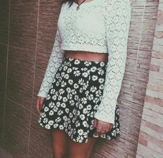skirt daisy love it black skirt waw