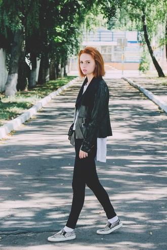 kristina magdalina blogger jacket jeans