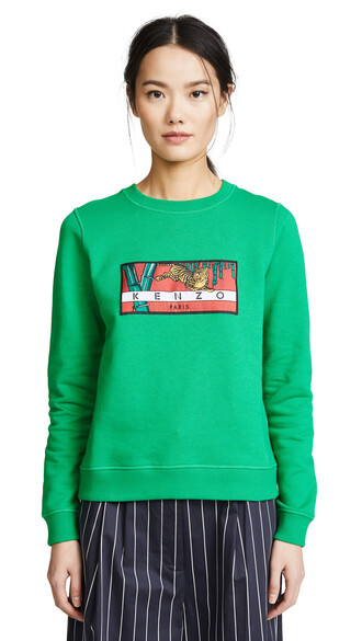 sweatshirt oversized tiger grass sweater