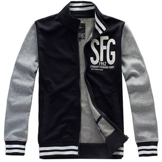 jacket 2014 cheap royal sfg mens blue cotton leisure varsity jacket