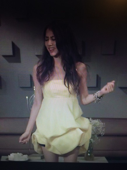 dress yellow cute skirts strapless