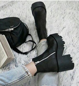 shoes black shoes grunge shoes