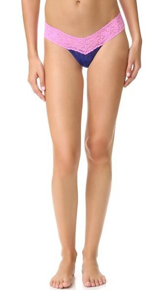 thong rose blue underwear