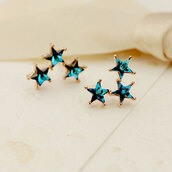 jewels,earrings,crystal,blue stars