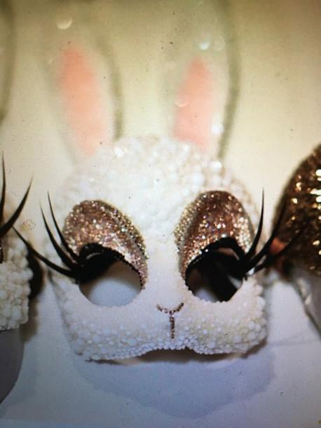 hair accessory mask bunny bunny mask sparkly mask masquerade mask bunny ears