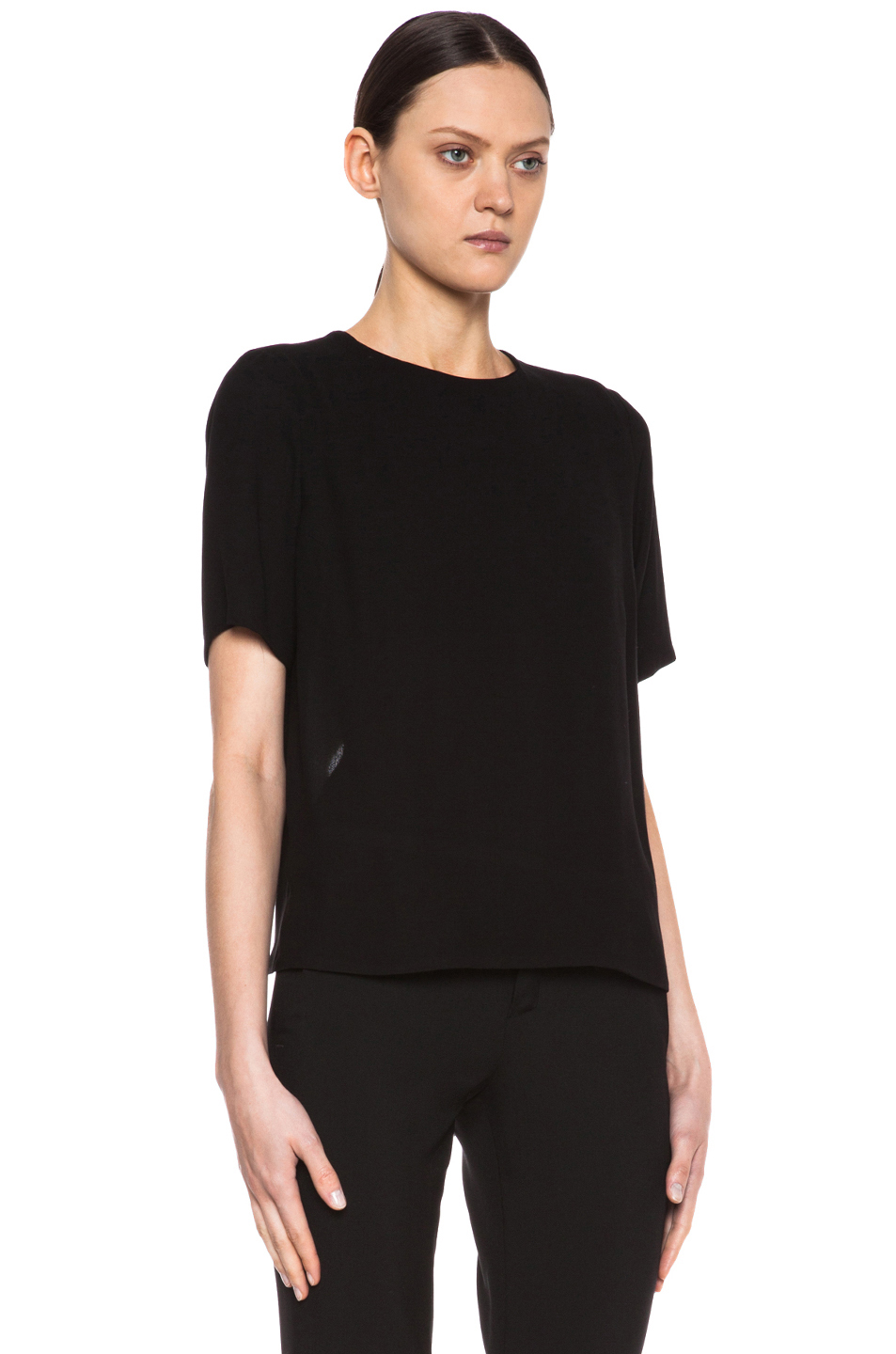 A.L.C. | Cip Viscose & Silk Top in Black