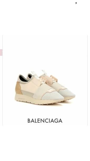 shoes beige sneakers balenciagarunners balenciaga