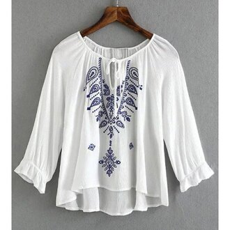 top boho white fashion trendy cool summer style rose wholesale-ap