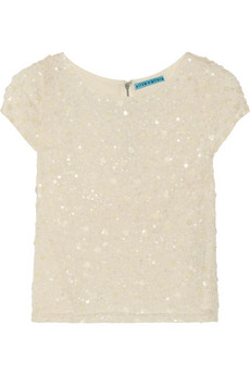 Alice   Olivia Winnie sequined silk top - 50% Off Now at THE OUTNET