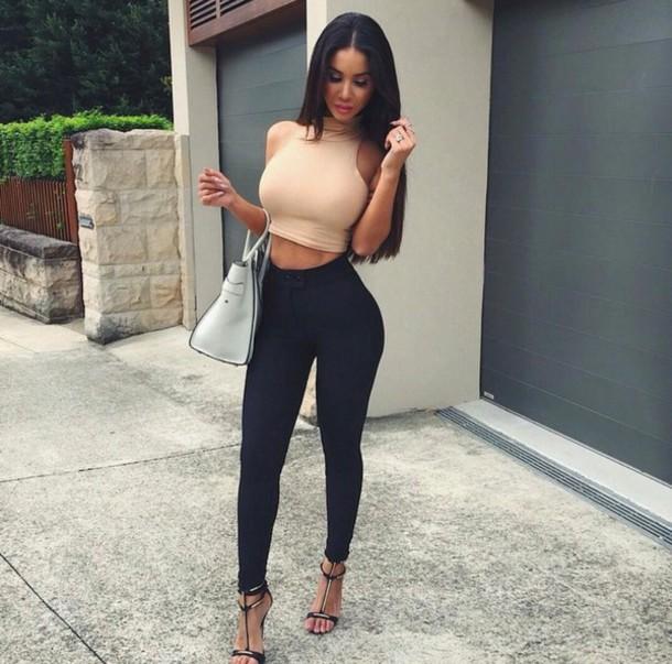 jeans blouse tank top