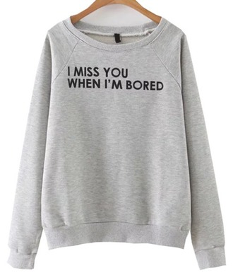 sweater grey grey sweater quote on it