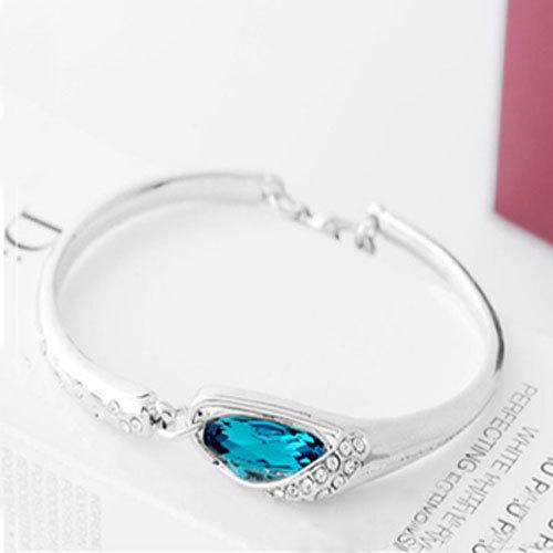 [grxjy51201234]Fashion Rhinestone Waterdrop Sapphire Bracelet