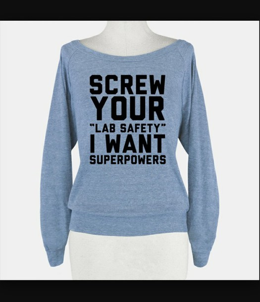 sweater lab safety superpowers screw it