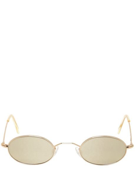 ANDY WOLF Armstrong Oval Sunglasses in gold