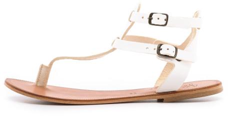 Joie a la plage pradeaux gladiator sandals in white