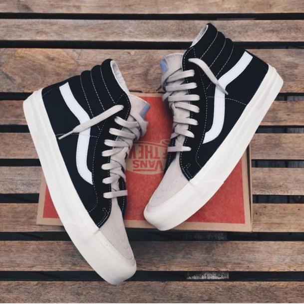 shoes vans high top sneakers