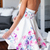 White Strapless Floral Backless Dress -SheIn(Sheinside)